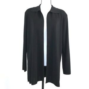 Misook Heritage Style Open Front Cardigan Size M